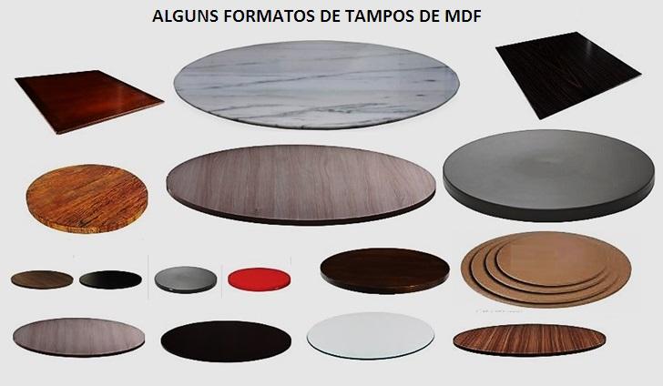 mesas formatos de tampos