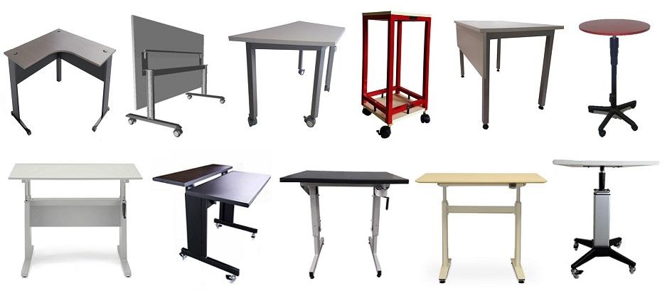 conjunto dos modelos das mesas de nosso produção