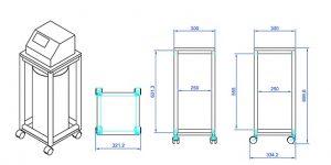 mesa fixa contagem de cedular desenho técnico