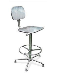 Cadeiras Ergonômicas - Estrutura, assento e encosto em Aço Inox AISI 304