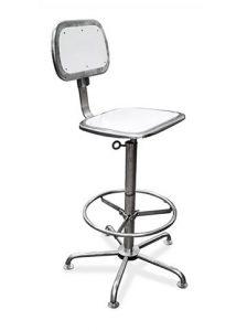 Cadeiras Ergonômicas - Estrutura, assento e encosto em Aço Inox AISI 304 com PEAD