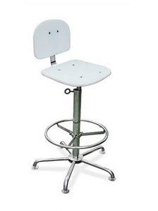 Cadeiras Ergonômicas - estrutura em Aço INOX AISI 304, assento e encosto em PEAD