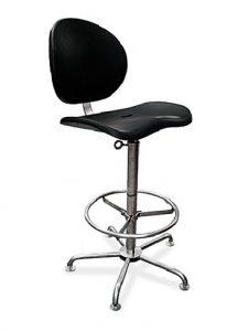 Cadeiras Ergonômicas – Estrutura em Aço Inox AISI 304, assento e encosto em poliuretano modelo WORK