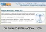 Calendário internacional de eventos na área de Ergonomia